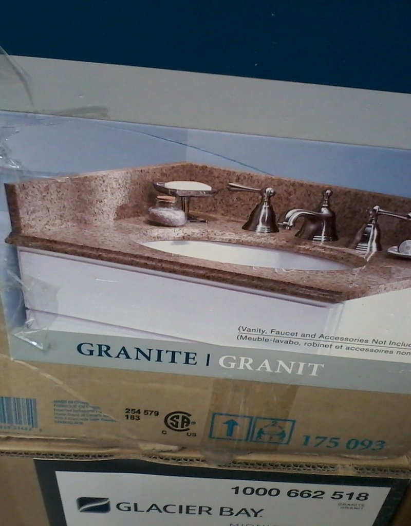 """Markham East Store 31"""" x 22""""  assorted Vanity tops with basin"""
