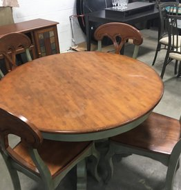 Brampton Store Solid Wooden Table + 4 Chairs