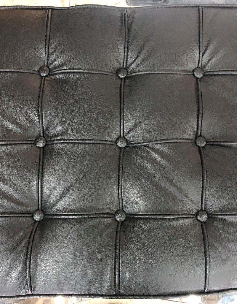 Brampton Store Black Leather Stool
