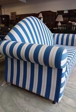 Scarborough Store Blue and White Striped Sofa