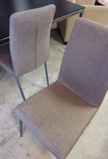 Etobicoke Store Beige tweed dining chairs