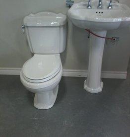 Markham East Store Toilet and Pedestal Sink Set