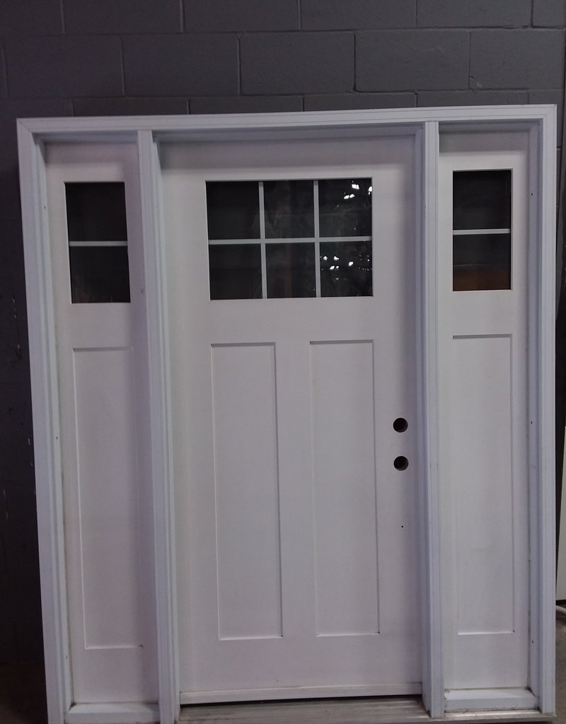 North York Store White door with frame