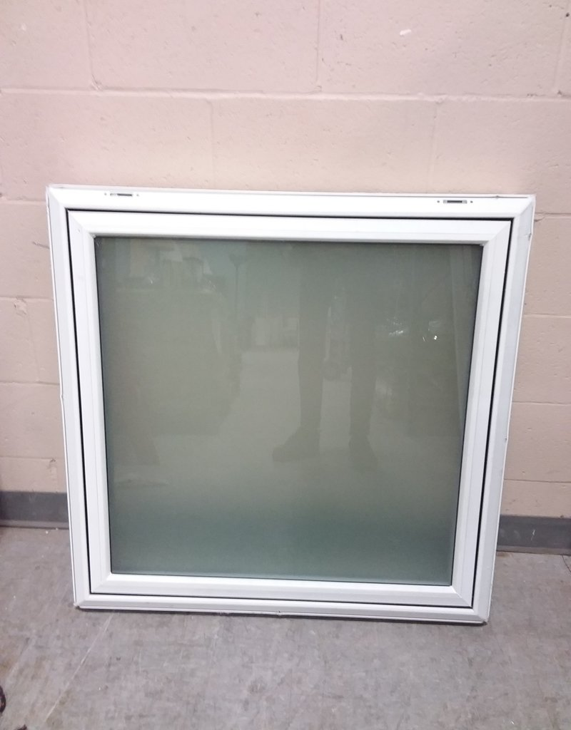 North York Store Frosted glass fixed window with frame