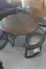 Markham East Store Round table and 4 chairs (Low)
