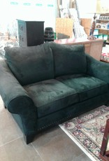 Woodbridge Store Black Microfiber Loveseat