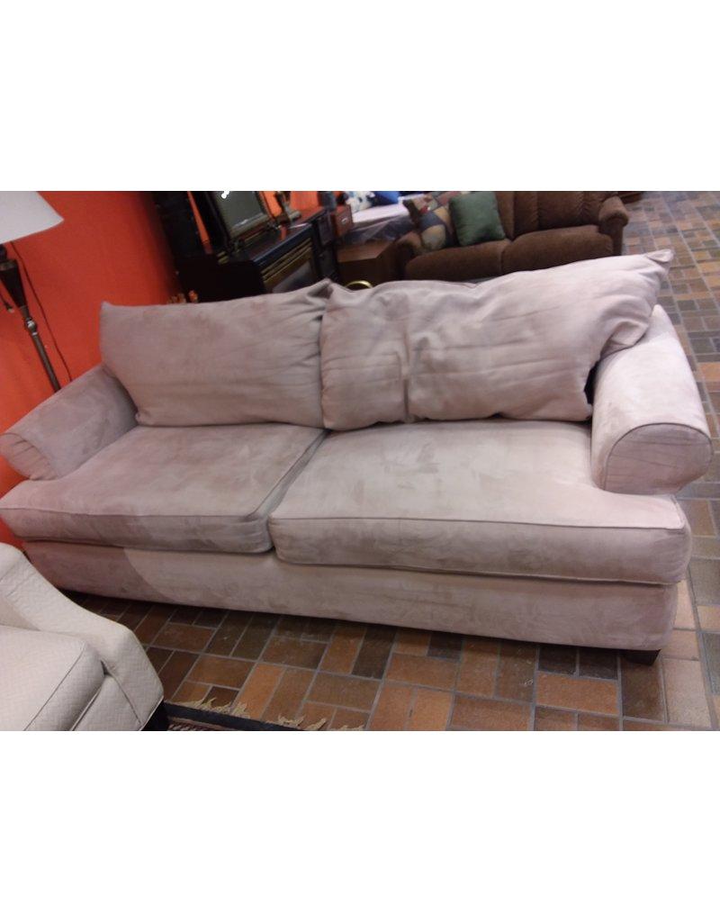 Vaughan Beige Velvet Sofa