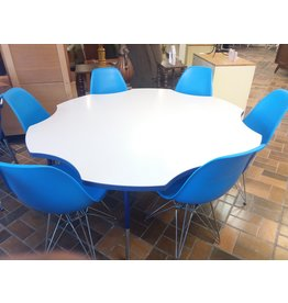 Vaughan Tables with Blue Chairs