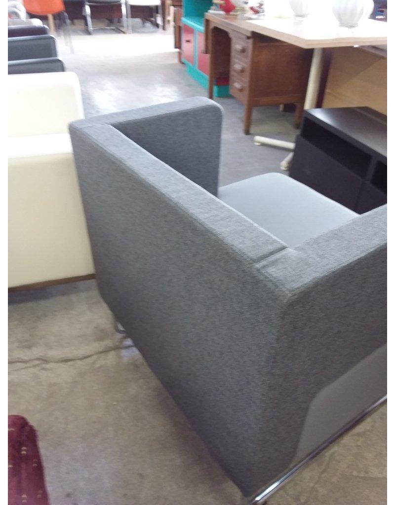 Studio District Grey two-tone arm chair