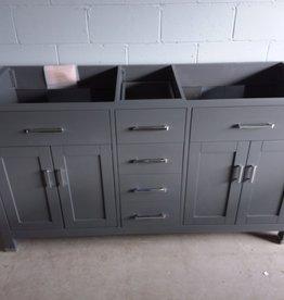 North York Store Grey 2-sink vanity cabinet