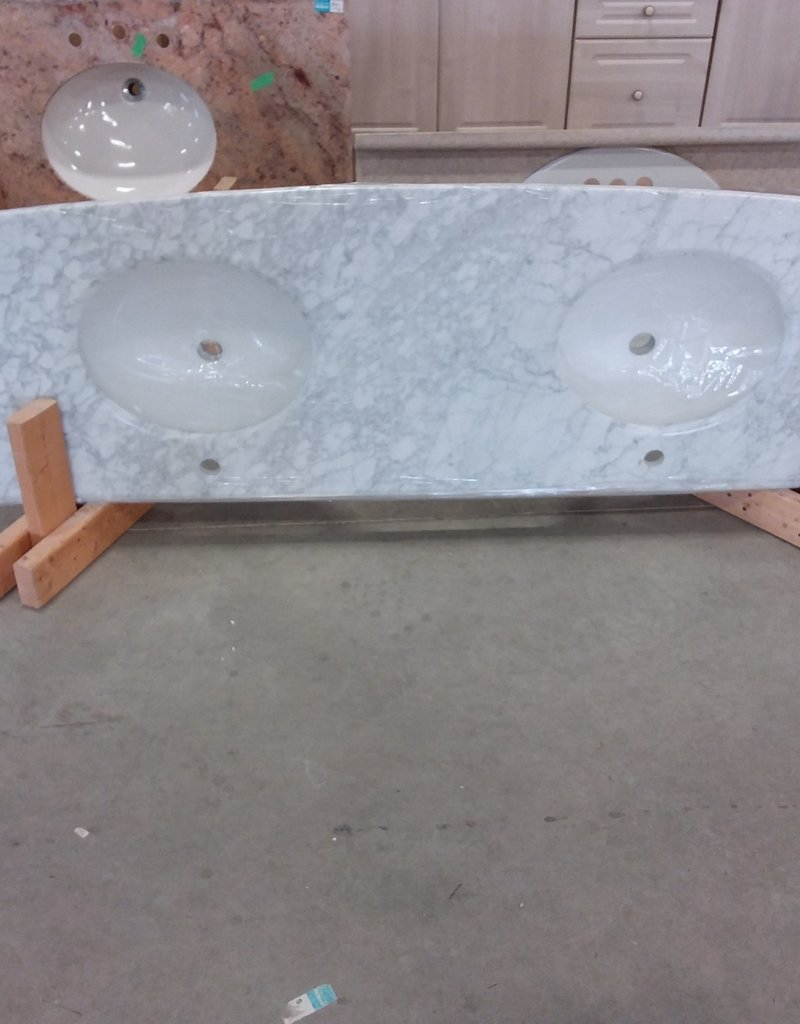 Markham West Store Marble bathroom countertop