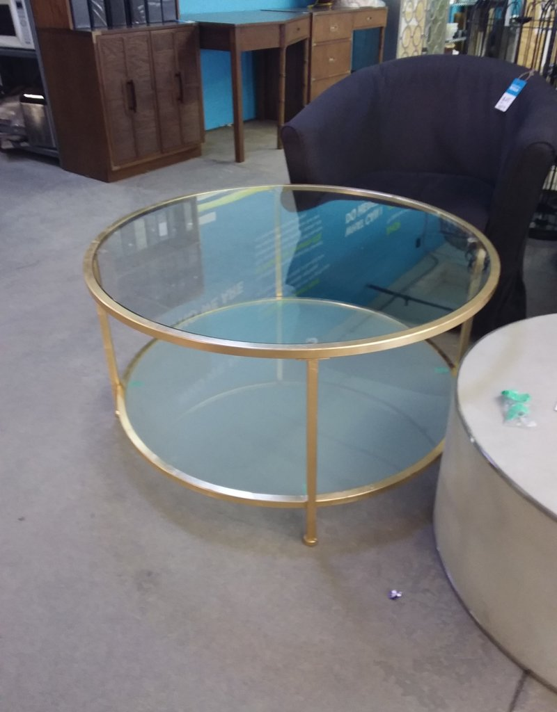 Studio District Store Round glass coffee table