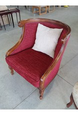 Markham West Red victorian style arm chair