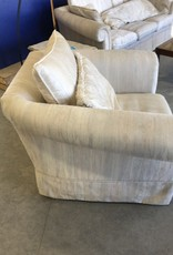 Markham West Store White Living Room Arm Chair
