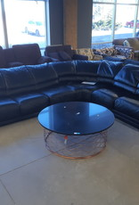 East York  Store Awesome Black Leather Sectional Sofa