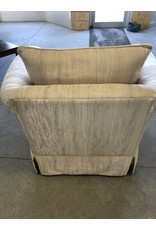 Markham West White Living Room Arm Chair
