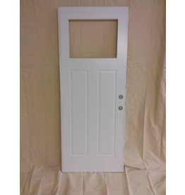 Vaughan White Metal Door with Cut-out
