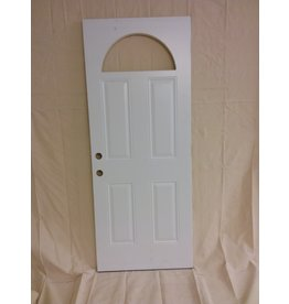 Vaughan White Metal Door - Half Moon Cut-out