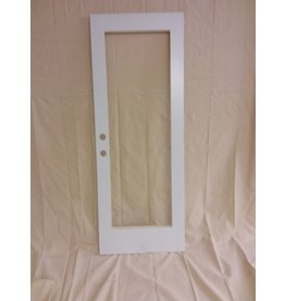 Vaughan White Metal Door with Cut out for Glass