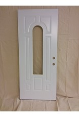 Vaughan White Metal Door - Arched Cut Out