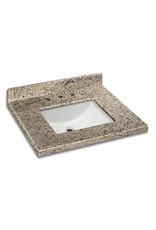 Markham West 31-inch x 22-inch Ornamental Granite Vanity Top with White Trough Basin