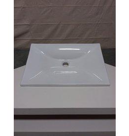 Studio District White ceramic shallow depth vanity sink