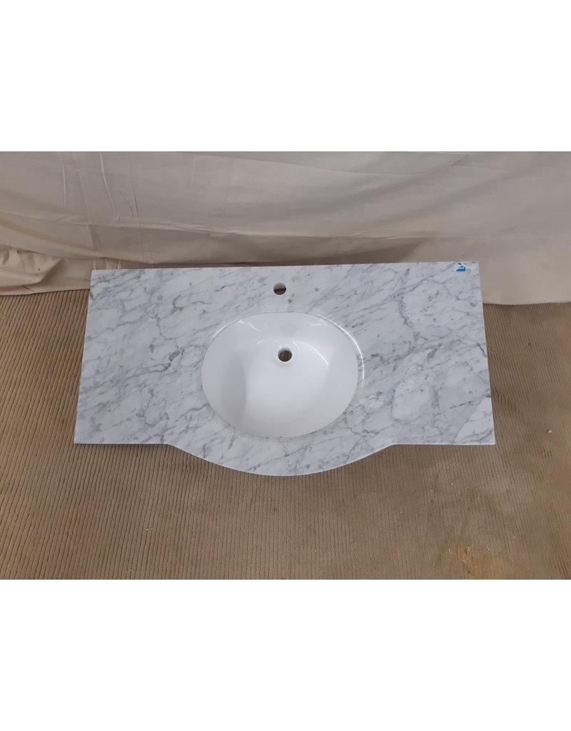 42 Light Grey Stone Top Vanity