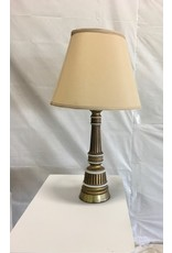 "North York 32"" Gold and White Table lamp"