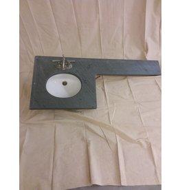 Vaughan Grey Stone Vanity Top with Sink