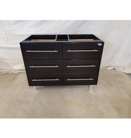 "East York 40"" Brown 2-sink vanity cabinet"