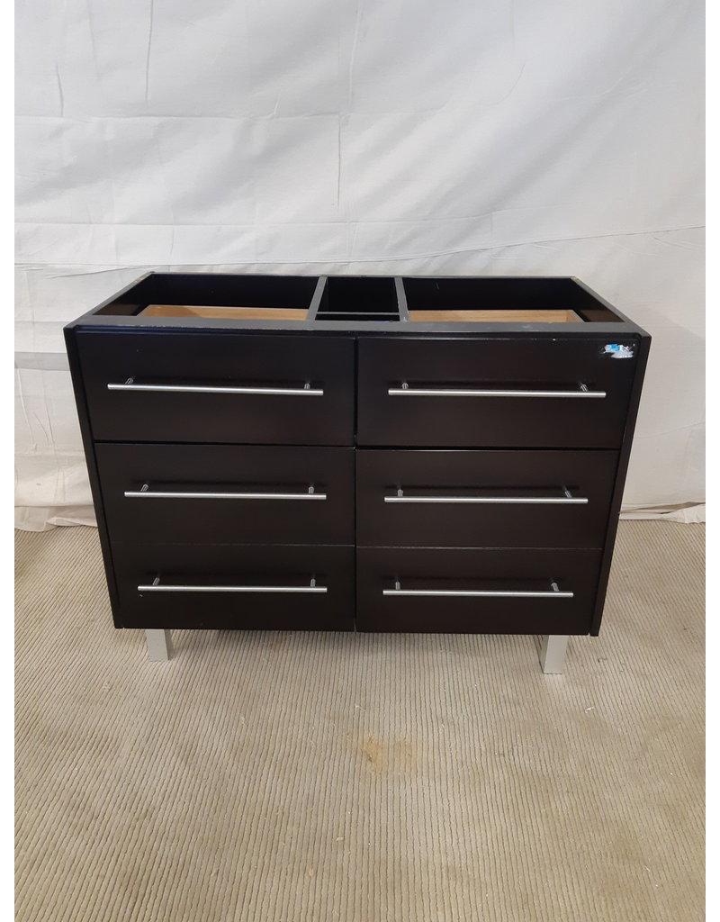 """East York 40"""" Brown 2-sink vanity cabinet"""