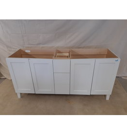 "East York 72"" 2-Sink White Bathroom Vanity Cabinet"