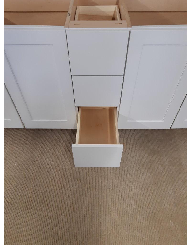 """East York 72"""" 2-Sink White Bathroom Vanity Cabinet"""