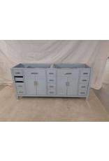 """East York 74"""" Grey 2-sink vanity cabinet"""