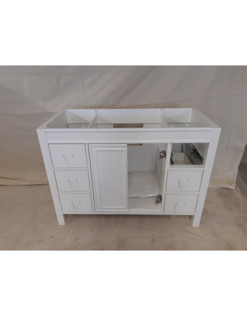 "East York 47"" White vanity Cabinet"
