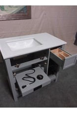Studio District Grey vanity without cabinet doors