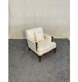 Markham West Lounge Chair - White with Floral Pattern