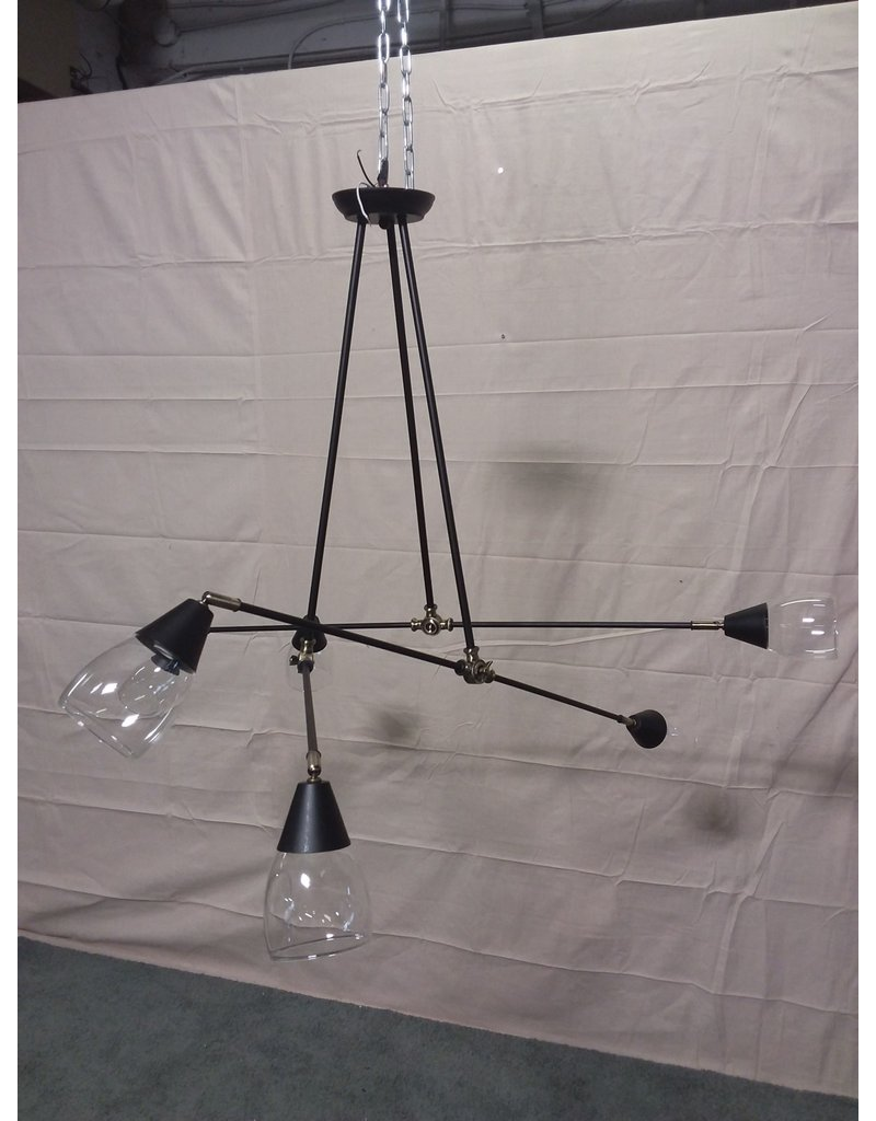 Studio District 6 light black chandelier