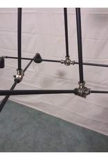 Studio District 6 light black chandelier