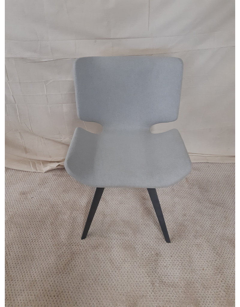 East York Astra Dining Chair (Stone Grey with Titanium Frame)