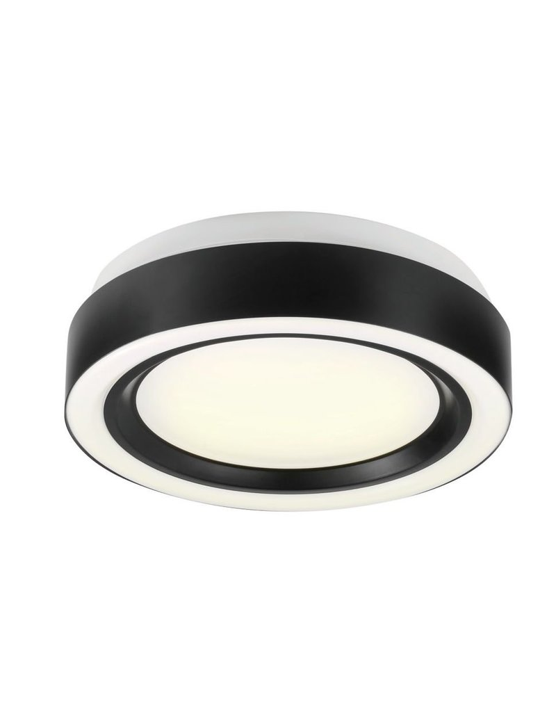 Markham West 13-inch Integrated LED Ring Flush-mount Light Fixture