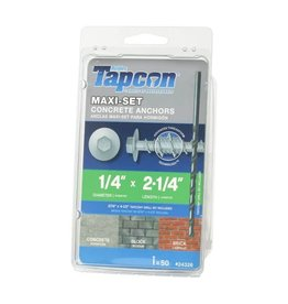 "Vaughan Tapcon Maxi-Set 2 1/4"" Concrete Anchors (50 PK)"