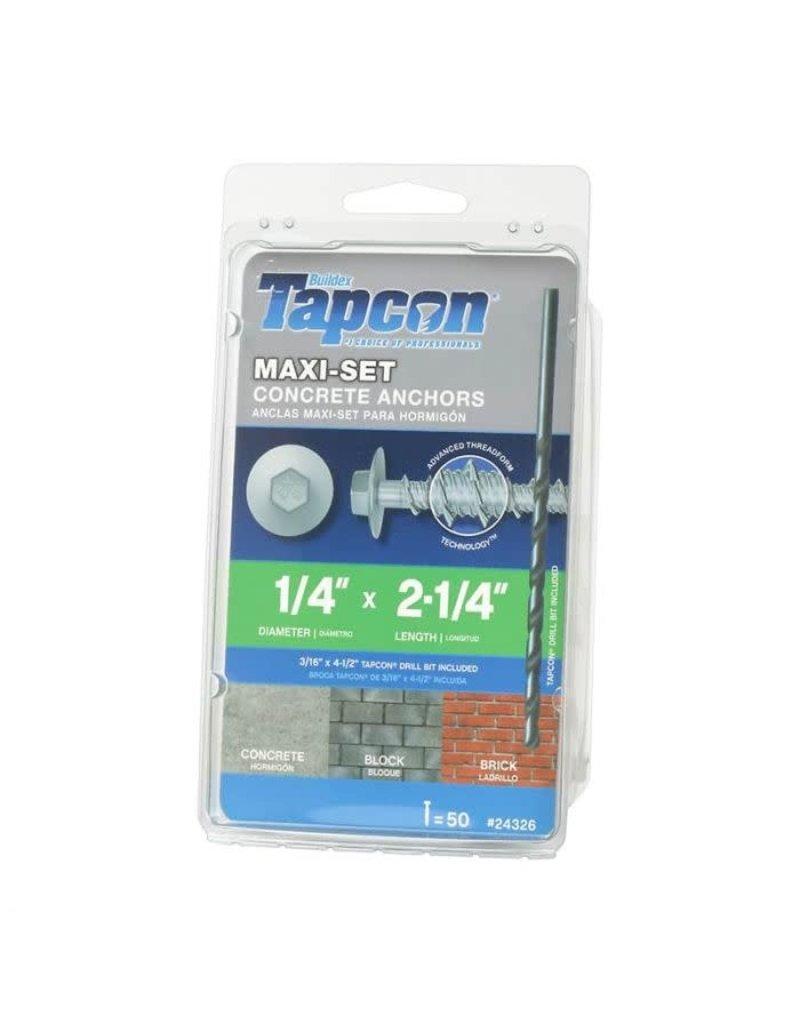 """Vaughan Tapcon Maxi-Set 2 1/4"""" Concrete Anchors (50 PK)"""