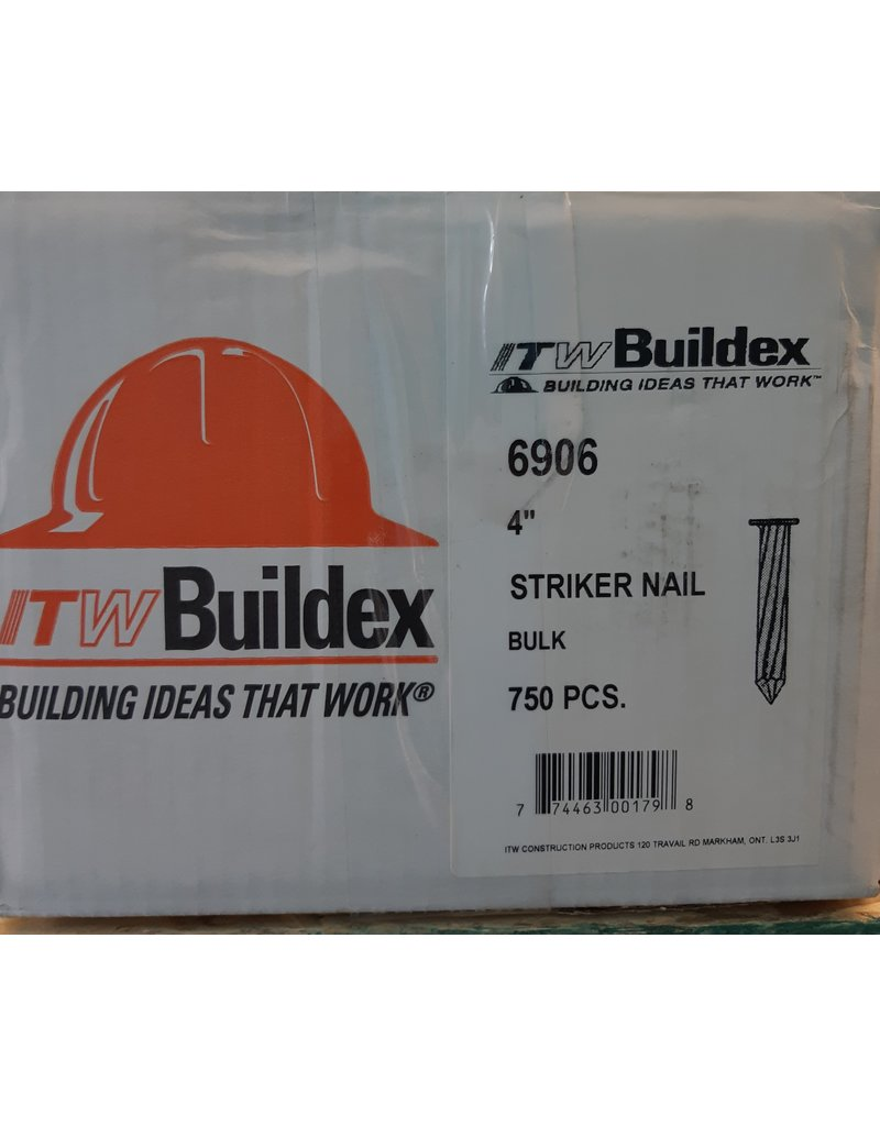 "Vaughan 4"" Striker Nail - 750 pcs / box"