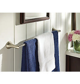 East York MOEN Darcy 24 Inch Towel Bar with Press and Mark in Brushed Nicke