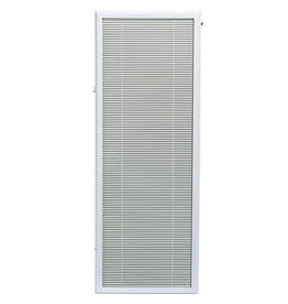 Studio District White Aluminum Add-on Blind for Full View Door