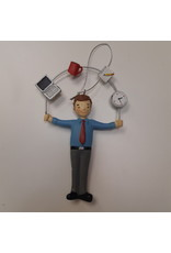Vaughan Male Office Worker Juggler Ornament