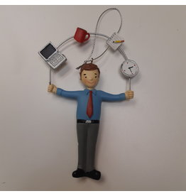 Vaughan Male Office Worker Juggler Ornament