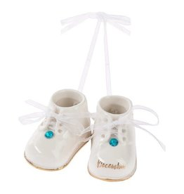 Vaughan December Birthstone Baby Booties Ornament