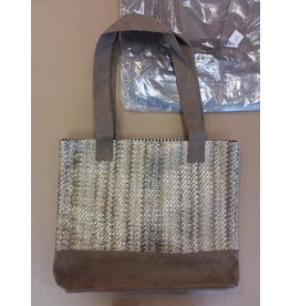 Vaughan Brown & Gold Tote Bag
